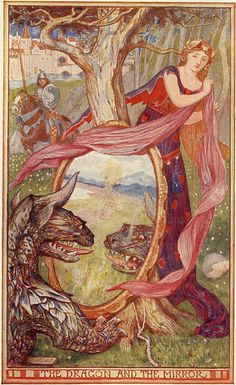 """""""The Knights of The Fish"""" - From The Brown Fairy Book Collection of Andrew Lang - Artist H.G.Ford - England (1904)"""