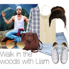 REQUESTED: Walk in the woods with Liam by style-with-one-direction on Polyvore featuring moda, Totême, Current/Elliott, Converse, Brighton, Michael Kors, Ray-Ban, OneDirection, LiamPayne and 1d