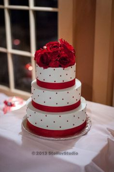 Our wedding cake - red and Tiffany blue