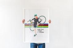 Casual Feminine Cycling Women Poster - www.littleblackbike.cc - pic by www.silviebonne.be