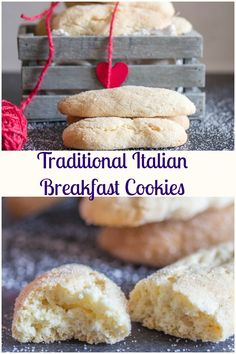 Traditional Italian Breakfast Cookies, a fast & easy cookie recipe, crunchy on outside and soft inside. Perfect for breakfast or snack. #cookies #Italian #breakfast #snack via @https://it.pinterest.com/Italianinkitchn/