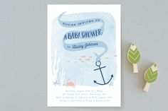Dreamy Ocean Baby Shower Invitations by Karidy Walker at minted.com