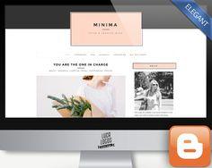 Elegant Blogger Template - Minima by LucaLogos on @creativemarket