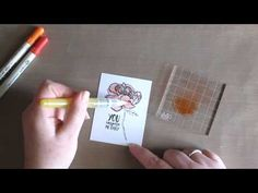 Unity Quick Tip: Distress Marker Watercolor Rose | Unity Stamp Co