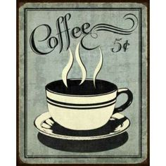 Retro Coffee I Canvas Art - N Harbick (20 x 24)