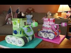 ▶ Diaper Cake Tank (How To Make) - YouTube