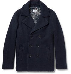 Gant RuggerScruffy Double-Breasted Wool-Blend Peacoat