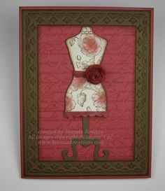 "Keenan Kreations: ""All Dressed Up"" dress form card"