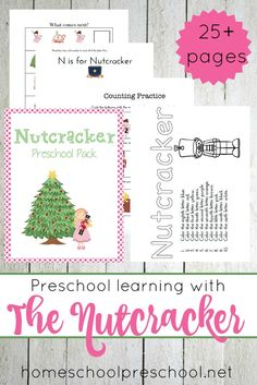 Free Nutcracker Preschool Printable Pack Pages! Preschool Christmas Activities, Preschool Curriculum, Preschool Printables, Preschool Lessons, Preschool Learning, Preschool Crafts, Toddler Learning, Winter Activities, Kid Crafts