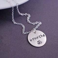 Breathe Om Necklace - Silver