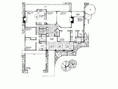 images about House Plans on Pinterest   House plans  Spanish    Spanish Revival House Plan   Square Feet and Bedrooms s  from Dream