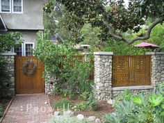 Wall Top Fence Design #2 in Claremont, CA More
