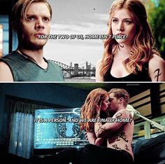 Shadowhunters — Jace & Clary + quote