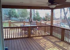 Sunroom, Patio, Screened in Porch, Deck I would have a sliding door separating the deck and screened in portion!