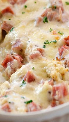 Chicken Cordon Bleu Casserole.