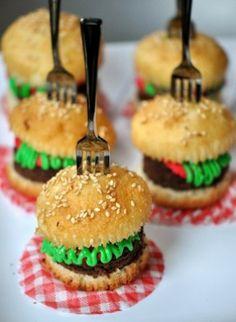 Mini-Hamburger-Cupcakes