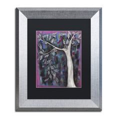 """Trademark Art 'Zofia' by Abril Andrade Framed Graphic Art Matte Color: White, Size: 14"""" H x 11"""" W x 0.5"""" D"""