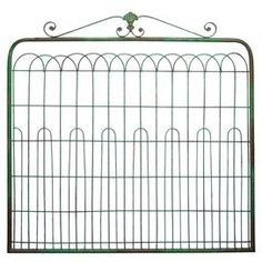 Gate-inspired wall decor.  Product: Wall décorConstruction Material: MetalColor: GreenDimensions: 40 H x 39.5 W x 2 D Cleaning and Care: Dust with dry cloth