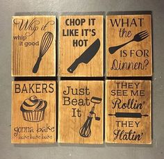 Funny Wooden Wall Signs Mimicking your favorite pop hits and rap songs. Follow the link to order your favorite Kitchen sign.