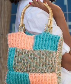 Ribbed Project Bag Free Crochet Pattern LW2554