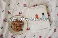 Bucket List - Read 100 Books in a Year | Pinterest: @xchxara