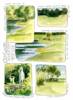 Old South is a beautiful golf course. I would have preferred to stay on hole 3 and paint the day away :) The boxes really helped me keep my wc sketching simple. Watercolor Inspiration, Sketchbook Inspiration, Painting Inspiration, Journal Inspiration, Watercolor Sketchbook, Art Sketchbook, Watercolor Paintings, Watercolors, Painting Trees