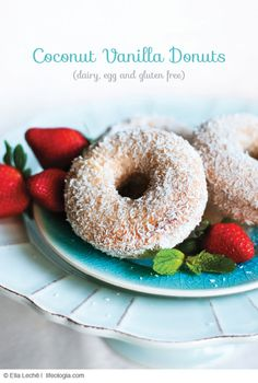 SO DELICIOUS COCONUT VANILLA DONUTS dairy-free, egg-free, vegan, gluten free,vegan, all-natural, refined-sugar free : most delicious donuts with a special announcement