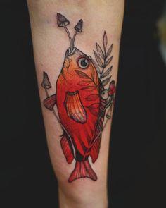 amazing color fish tattoo by Sister Tattoo Designs, Tattoo Designs Men, Fatima Hand Tattoo, Pine Tattoo, Rib Tattoos For Guys, Illuminati Tattoo, Clever Tattoos, Rose Tattoo On Arm, Seahorse Tattoo