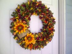 Fall themed wreath I made...
