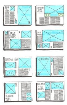 page layout ideas - clean and simple