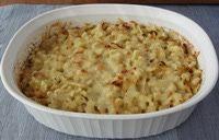 Cheese Spaetzle Noodle Casserole - Kaesespaetzle - German Macaroni and Cheese