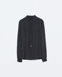 Image 8 of PRINT TIE-NECK SHIRT from Zara