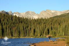 Practicing my dancer's pose at Brainard Lake with my comfortable Stonewear Designs tank top and running capri's