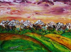 Summer Fields    oil on canvas 18x24 inches  a view looking towards the mountains from just east of Calgary Alberta in the early summer