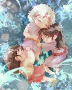 Inuyasha Fan Art, Inuyasha And Sesshomaru, Fairy Tail Kids, Seshomaru Y Rin, Manga Anime, Anime Art, Anime Sketch, Me Me Me Anime, Cute Pictures