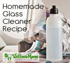 This DIY Natural Glass Cleaner Recipe is very inexpensive and effective. Works on glass and smooth surfaces and only needs three ingredients!