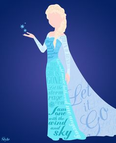 The queen of Arendelle is the focus of our next typography. We chose Elsa, because we wanted to visually express the different sides of her.