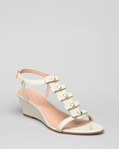 kate spade new york Demi Wedge Sandals - Darcey Bow | Bloomingdale's