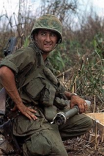 29 Apr 1967, Hill 861, Dak To - A US Marine is shown