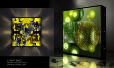"""Black Lights"" Serie Light Boxes Led lights,Plexiglass"