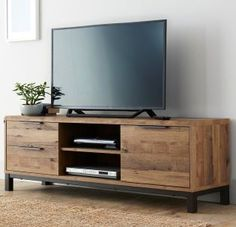 Buy Bronx Wide TV Unit from the Next UK online shop You are in the right place about TV unit diy pallet Here we offer you the most beautiful. Tv Furniture, Classic Furniture, Living Room Furniture, Living Room Decor, Furniture Design, Tv Stand Ideas For Living Room, Living Rooms, Bedroom Decor, Tv Unit Bedroom