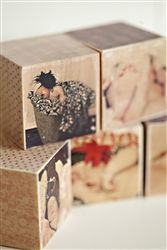 What kid wouldn't want building blocks with family pictures and custom text?  (pictures printed on wood)