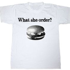 what she order, fish fillet? shirt