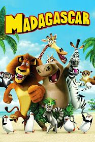Madagascar: Free Printable Birthday Invitations, Cards or Backgrounds.