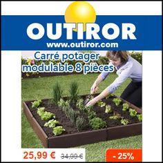 #missbonreduction; Réduction de 25% sur le Carré potager modulable 8 pièces chez Outiror. http://www.miss-bon-reduction.fr//details-bon-reduction-Outiror-i852325-c1828854.html