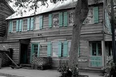 The shutters of the Pirate's House Restaurant in Savannah, GA