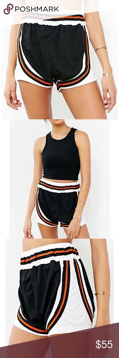 UNIF JOGGER SHORTS URBAN OUTFITTERS SPORTY CHIC UNIF JOGGER SHORTS from Urban Outfitters $77 retail price brand new with tag. Inner label marked perfect condition. DETAILS Sporty-chic jogger shorts from UNIF. Short lightweight fit featuring colorblock striping and an elastic-banded waist. Polyester. Machine wash. UNIF Shorts
