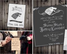 Invitation Game of Thrones pour une soirée à theme ou anniversaire Trones de fer.
