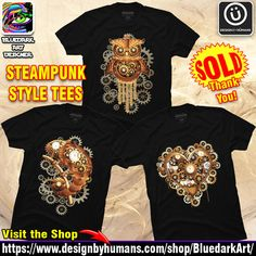 Designs by BluedarkArt Crazy Outfits, Steampunk Fashion, Christmas Sweaters, Tees, Unique, Clothing, How To Wear, T Shirt, Accessories