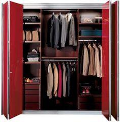 red accordion closet doors folding closet doors closet designs modern closet ideas
